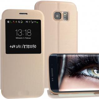 Bookstyle Wallet Case für Samsung Galaxy S6 Gold Edge Handy-Smartphonetasche !!!