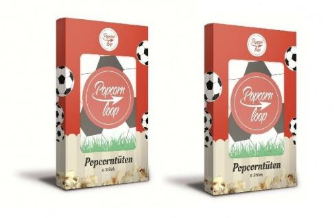 POPCORNLOOP 2x Fußball Tütenpackungen 12 Tüten Popcorntüten Popcorn Portionierer