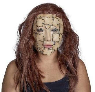 MKS Halloween Maske Kopf Über Puzzlegesicht Latex - Schön schaurig und gruselig