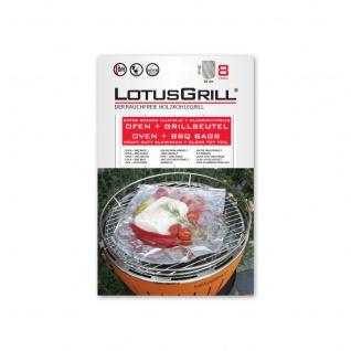 LotusGrill Ofen-/ Grillbeutel 8 Stück Extra Starke Alufolie + Klarsichtfolie NEU
