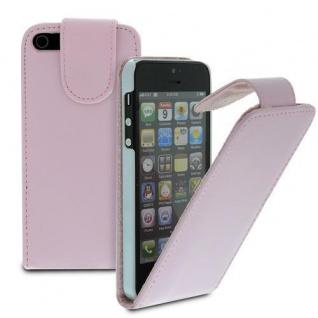 Für Apple iPhone SE 5 Handy Flip Case Tasche Hülle Schutz Pink Tasche - Vorschau
