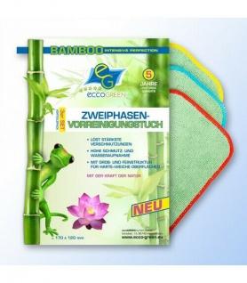 eccoGREEN Zweiphasen-Vorreinigungstuch 3er-Set, Streifenfrei Antibakteriel!!