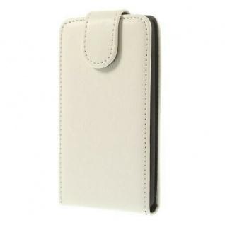 Flip Case für LG G3 Weiß - Smartphonetasche Handytasche Case Cover