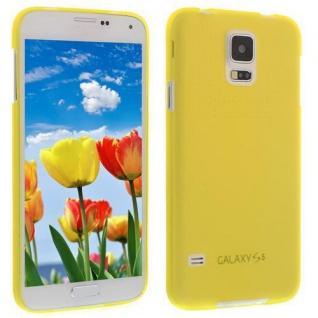 Für Samsung S5 i9600 GELB Slim TPU Case Cover Hülle Schale Schutzhülle Dünn NEU! - Vorschau