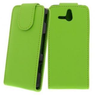 Für Sony Xperia U / ST25I GRÜN Handytasche Case Cover Etui Hülle Kunstleder Tasc