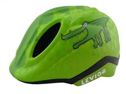 KED Fahrradhelm Primo Green Croco in der Größe S (Kopfumfang 46-51 cm)