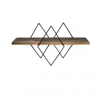 Wandregal Rautendesign modernes Design für Dekoration, Vasen, Uhren und Bücher