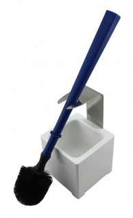 Mr. Sanitär Spezial 3 tlg. WC-Garnitur Blau, Wand- /Bodenhalter, 2x Borstenkopf