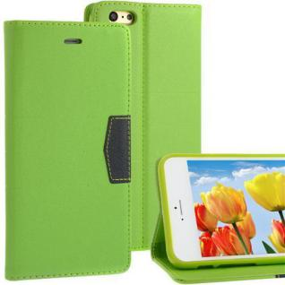 """Bookstyle Wallet Case für Apple iPhone 6 (4, 7"""") Anthrazit Grün - Handytasche NEU"""