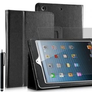 """Faltbare Tablet Tasche für Apple iPad mini Schwarz 7, 9"""" +Eingabestift +Folie NEU"""