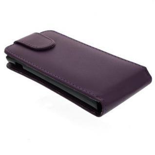 Für Sony Xperia P Handy Flip Case Tasche Hülle Schutz Lila