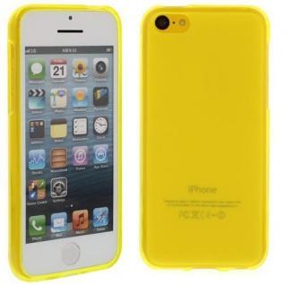 Silikon Case für Apple iPhone 5C Gelb Etui Cover Bumper Tasche