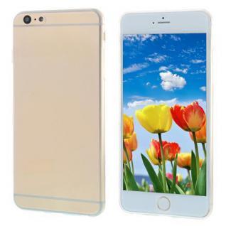 Silikon Case für Apple iPhone 6 PLUS - Transparent Weiß - Cover Bumper Etui NEU