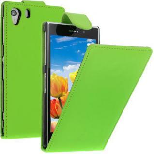 Für Sony Xperia Z1 -L39H GRÜN Handytasche Case Cover Etui Hülle inkl.Schutzfolie