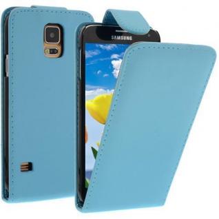 Für Samsung Galaxy S5 / i9600 Türkis Handytasche Tasche Hülle Etui Cover Schutz