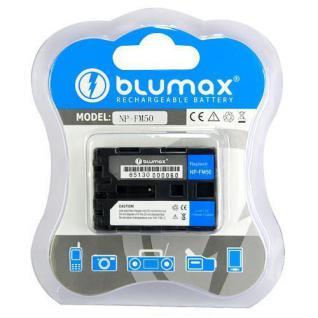 BLUMAX Li-Ion Akku für Sony NP-FM-50 / NP-FM50 Accu Battery Batterie Hochwertig