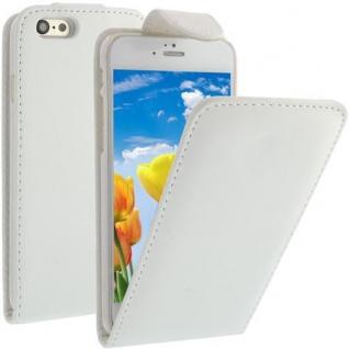 Flip Case für Apple iPhone 6 Weiß Handytasche Kunstleder Tasche Smartphonetasche
