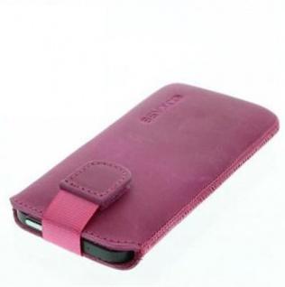 Für iPhone SE 5 5G Apple Handy ECHT LEDER Tasche/ Case / Etui/ Hülle Pink Antik - Vorschau