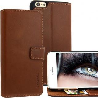 Für Apple iPhone 6 PLUS Handy ECHT LEDER Tasche / Case Etui - Braun von Exxcase