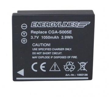 Akku accu battery für PANASONIC CGA-S005; CGA-S005A; CGA-S005A/1B ENERGYLINES