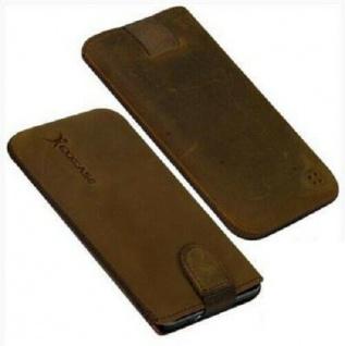 Für HTC Evo 3D, Sensation Handy ECHT LEDER Tasche/ Case/ Etui/ Braun antik NEU