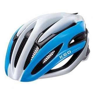 KED Fahrradhelm Wayron, M(55-59cm), Blue White, maxSHELL, Made in Germany
