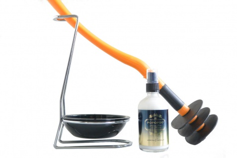 Mr Sanitär Orange + Zubehör + POPOPOO Toilettenspray Lemon-Vanille Duft
