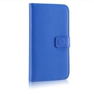 Bookstyle WalletCase für Samsung Galaxy S5 i9600 Blau Kartenfach Magnetverschluß