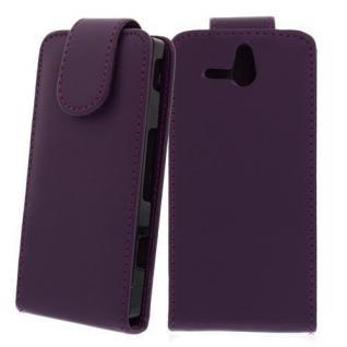 Für Sony Xperia U / ST25I LILA Handytasche Case Cover Etui Hülle Kunstleder Tasc