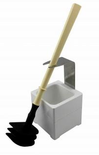 Mr. Sanitär Spezial 3 tlg. Toilettenbürste WC-Garnitur Beige + Wand/Bodenhalter