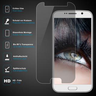 Premium Schutzglas für Samsung Galaxy S6, Echtes Glas, 0, 3mm, 99% transparent