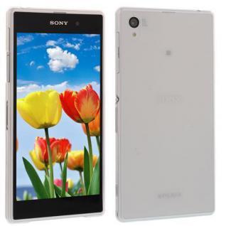 Für Sony Xperia Z1 L39H WEIß TPU SLIM CASE Cover Hülle Schale inkl.Schutzfolie