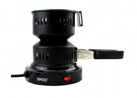 Shov elektrischer Kohleanzünder Anzünder Shisha Heizspirale mit Zange, Kohlekorb