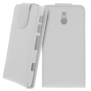 Für Sony Xperia P Handy Flip Case Tasche Hülle Schutz Weiss