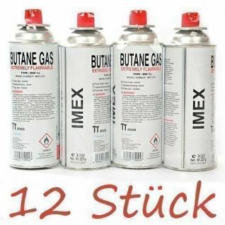Imex Gaskartuschen / 12 Stück / für Gaskocher, Butan Gas Imex, MSF-1a, à 227g