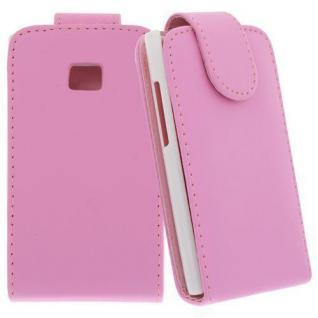 Für LG E400 / L3 Pink - Kunstleder Tasche, Handytasche, Case, Hülle, Schale, Schutz,