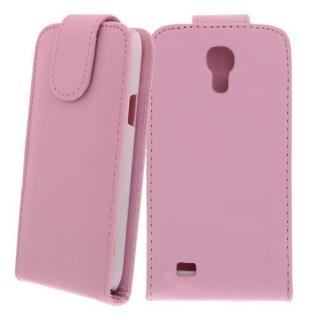 Für Samsung Galaxy S4 Mini i9190 Rosa Handytasche Case Hülle Etui + Schutzfolie