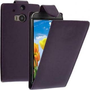 Flip Case Handytasche für HTC M8 in LILA - Smartphonetasche Case Cover Tasche