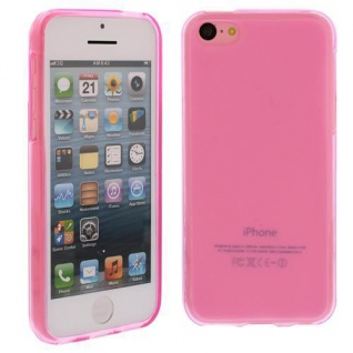 Silikon Case für Apple iPhone 5C Pink Etui Cover Bumper Tasche