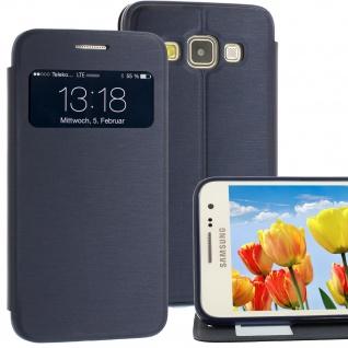 Bookstyle Wallet Case für Samsung Galaxy A3 Blau Handy-Smartphonetasche !NEU!