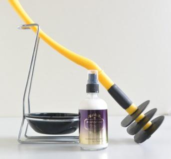 Mr Sanitär Gelb + Zubehör+ POPOPOO Toilettenspray Lavendel-Vanille Duft