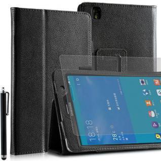 """Faltbare Tablet Tasche für Samsung Galaxy NOTE PRO T320 Schwarz 7"""" +Stift +Folie"""