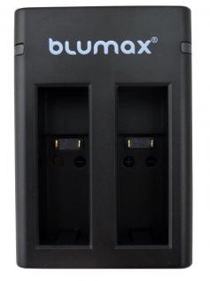 Blumax Ladegerät für GoPro Fusion ASBBA-001 mit 2 Slots für 2 Akkus gleichzeitig
