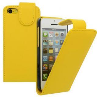 Für Apple iPhone 5C GELB - Kunstleder Tasche, Handytasche, Case, Hülle, Schutz,