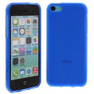 Silikon Case für Apple iPhone 5C Blau Etui Cover Bumper Tasche