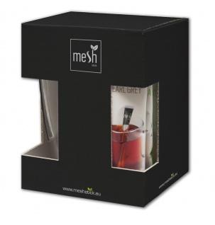 MESH Edle Geschenkbox, Hochwertige Verpackung Inhalt 1x Teeglas + 8x Tee Sticks