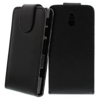 Für Sony Xperia P Handy Flip Case Tasche Hülle Schutz Schwarz