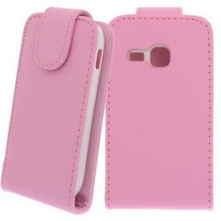 Für Samsung Galaxy S2 Mini / S6500 PINK - Kunstleder Tasche, Handytasche, Case, Hü
