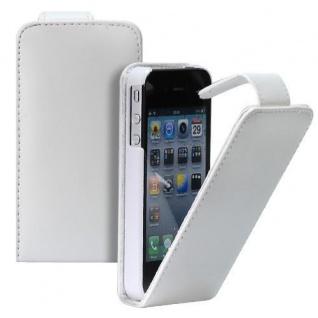 Für Apple iPhone 4/4S Handy Flip Case Tasche Hülle Schutz Weiss Tasche