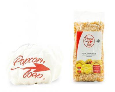 POPCORNLOOP Zubehör-Set: 1 x Original Popcornhaube + Popcornmais 500g! NEU!